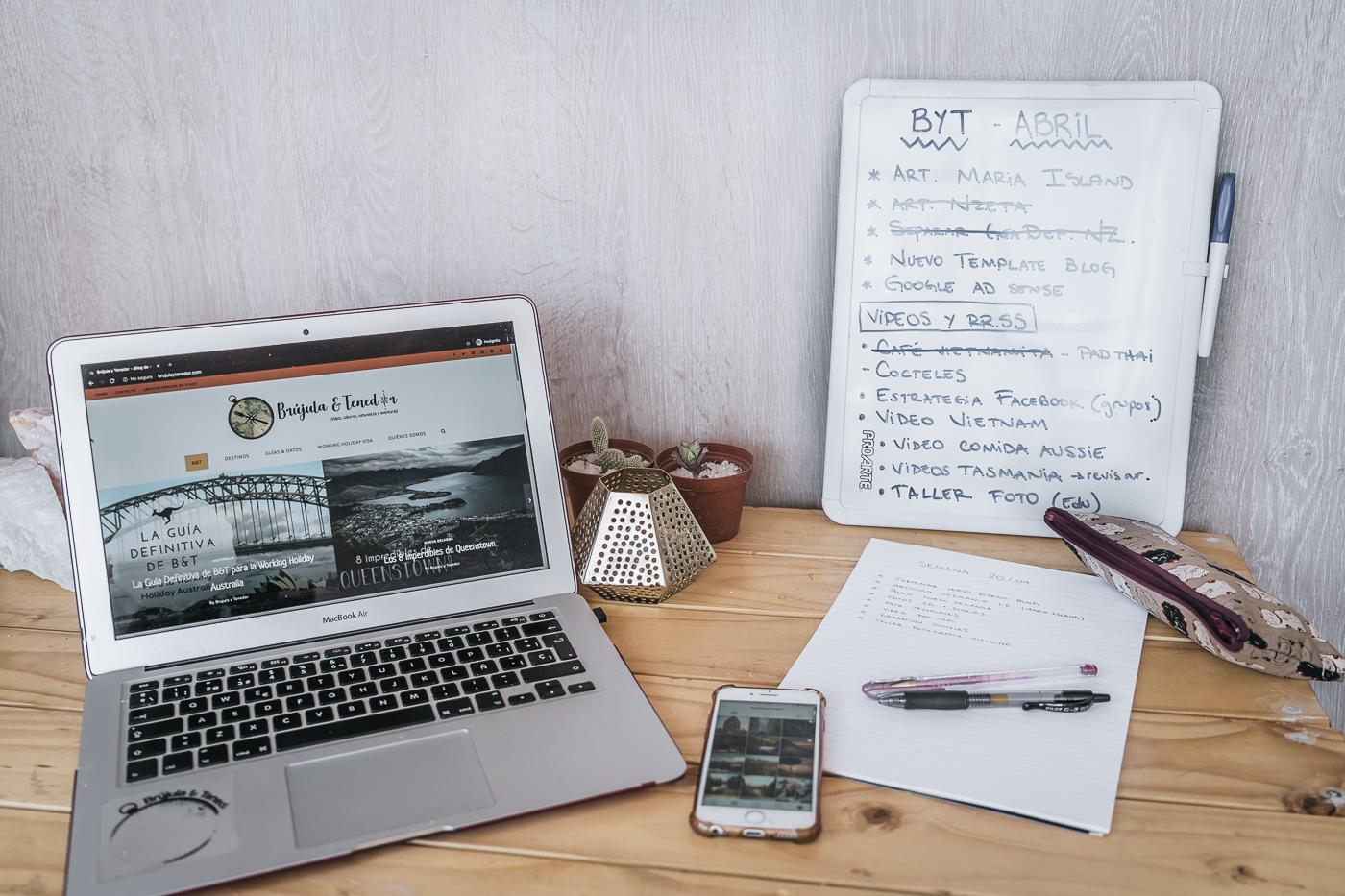 trabajar desde casa y hacer una lista de tareas