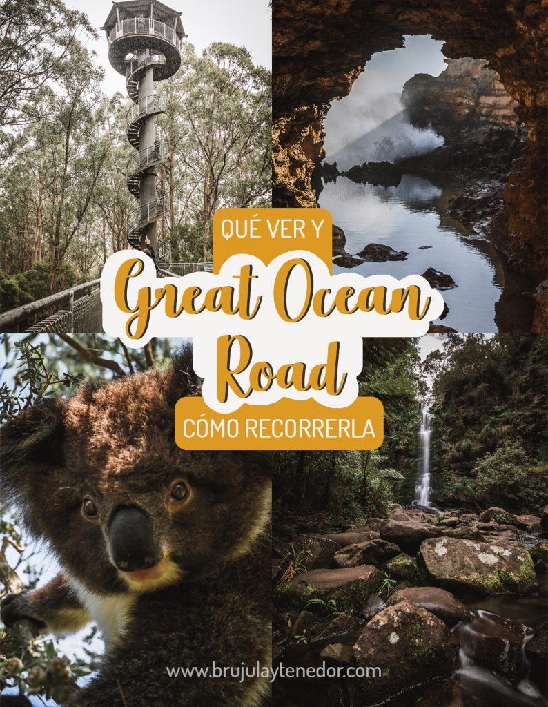 guía grafica de la great ocean road