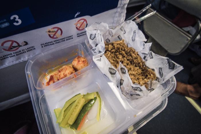 la comida del tren